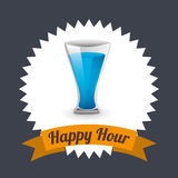 Happy hour design Royalty Free Stock Image