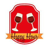 Happy hour design Royalty Free Stock Images
