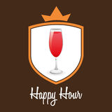 Happy hour design Royalty Free Stock Photo