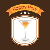 Happy hour design Stock Image