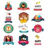 Happy Hour Design Royalty Free Stock Image