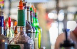 Happy Hour Drinks Liquor Bottles Stock Photos