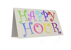 Happy hour with folded paper Royalty Free Stock Images