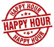 Happy hour stamp. Happy hour grunge stamp on white background royalty free illustration