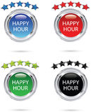 Happy hour icon Royalty Free Stock Photo
