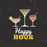 Happy hour label Royalty Free Stock Images