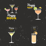 Happy hour labels Stock Photos