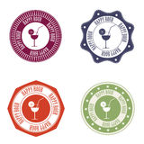 Happy hour labels Stock Image