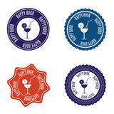 Happy hour labels Stock Photo