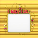 Happy Hour menu gold Royalty Free Stock Photo