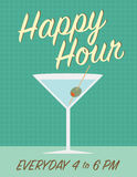 Happy hour poster Royalty Free Stock Photo