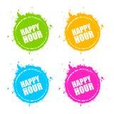 Happy hour blot icon stock illustration