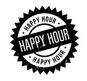 Happy Hour rubber stamp Royalty Free Stock Images