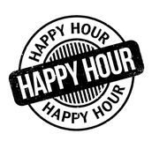 Happy Hour rubber stamp Royalty Free Stock Photos