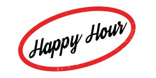 Happy Hour rubber stamp Royalty Free Stock Photography