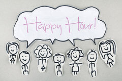 Free Happy Hour Sign Stock Photo - 47730510