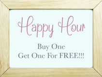 Happy Hour Sign Stock Photos
