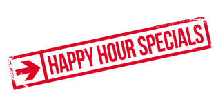 Happy hour specials stamp Stock Photo