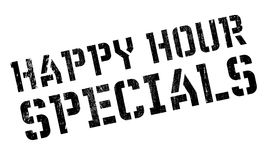 Happy hour specials stamp. Grunge design with dust scratches. Effects can be easily removed for a clean, crisp look. Color is easily changed Stock Images