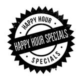 Happy hour specials stamp. Grunge design with dust scratches. Effects can be easily removed for a clean, crisp look. Color is easily changed Stock Photography