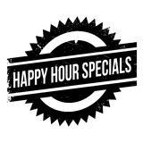 Happy hour specials stamp. Grunge design with dust scratches. Effects can be easily removed for a clean, crisp look. Color is easily changed Royalty Free Stock Photo