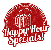 Happy hour specials stamp. Happy hour specials grunge rubber stamp on white background, vector illustration Royalty Free Stock Image