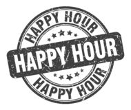 Free Happy Hour Stamp Royalty Free Stock Photography - 153379747