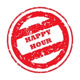 Happy Hour Stamp Stock Photography