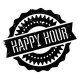 Happy hour stamp Stock Image