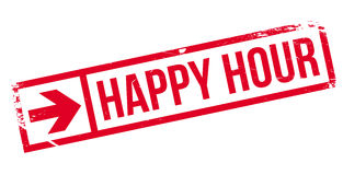 Happy hour stamp Royalty Free Stock Image