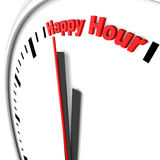 Happy hour. Text on a clock Royalty Free Stock Photo
