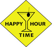 Happy Hour Time (Sign). Illustration of a sign of the happy hour time Royalty Free Stock Photos