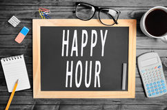Happy Hour words royalty free stock image