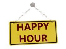 happy hour znak Obraz Royalty Free