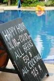 happy hour znak Obraz Stock