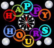 Happy hours billboard in rainbow colors Royalty Free Stock Photography