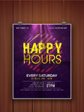 Happy Hours flyer or template. Stock Image
