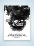 Happy Hours party celebration Flyer or Banner. Stock Photography