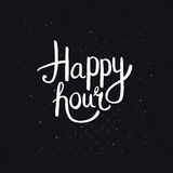 Happy Hours Phase on Abstract Black Background Royalty Free Stock Photography