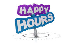 Happy hours sign Stock Photos
