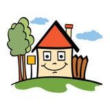 Happy house. In a neighbourhood Stock Photo