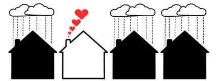 Happy house stock illustration
