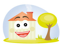 Happy house cartoon Stock Image