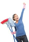 Happy House Cleaning Woman Stock Photo