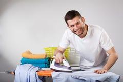 Happy househusband Stock Image