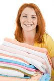 Happy housekeeper Stock Photography