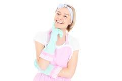 Happy housekeeper Stock Photo