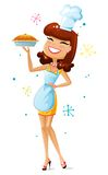 Happy Housewife Royalty Free Stock Images