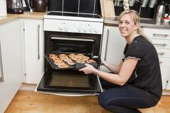 Happy Housewife Stock Image