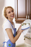 Happy housewife Stock Photos
